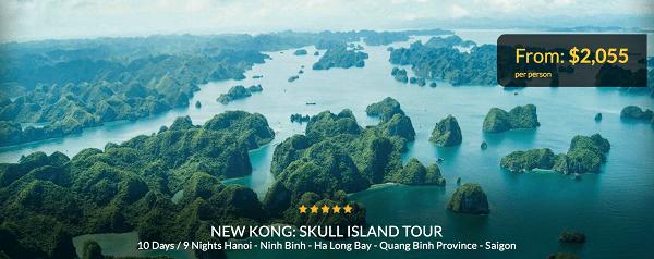 Xuất hiện tour du lịch đến Việt Nam thăm đảo Kong huyền thoại trong bom tấn Hollywood